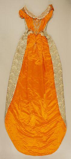 Court dress. Date: 1892–93. Culture: Austrian. Medium: silk, metallic thread, glass. From the MMA.