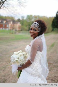 Nigerian Wedding: Gorgeous Hairstyles & HeadPieces For The Natural Bride |
