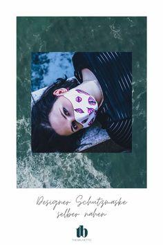Nähe dir deine eigene Designer Nasen-Mund-Schutzmaske selber. Schritt-für-Schritt Anleitung mit Schnittvorlage zum herunterladen und kreative Ideen, um individuelle Masken zu erstellen. Designer, Sewing Projects, Fashion Beauty, Polaroid Film, Movie Posters, Diy, Brunettes, Stencils, Sewing Patterns