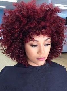 Wigs Red Curly Medium Synthetic Hair With Bangs Loose Messy Arican