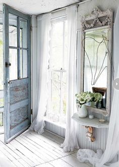 ♕ Sandy's tiny cottage studio, painted and chic