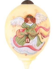 "Ne'Qwa 3"" Ne'Qwa ""Light of Christmas Angel"" Hand-Painted Glass Christmas Ornament #7141148 from Wal-Mart USA, LLC   BHG.com Shop"