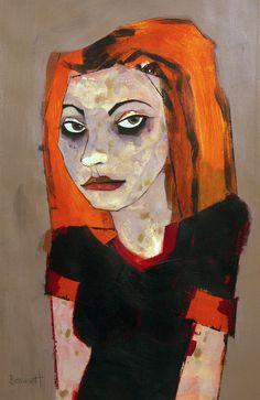 recent work — Margaretann Bennett Abstract Portrait Painting, Portrait Art, Figure Painting, Quirky Art, Whimsical Art, Copic Marker Art, Art Visage, Great Paintings, Fashion Painting