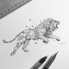 Tattoo •  Drawing • Tiger by Kerby Rosanes •