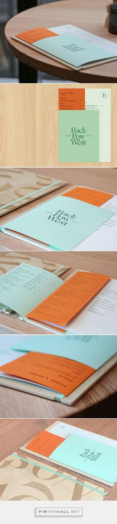 Art of the Menu: Back Row West... - a grouped images picture - Pin Them All