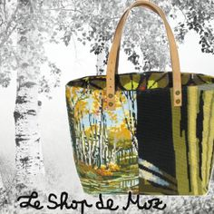 Nice French Tote Bag made with antic tapestry leshopdemoz.com