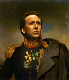 Nicolas Cage - replaceface Art Print by Replaceface | Society6