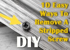 I am constantly needing this!  How to DIY, fix, replace anything on this site!  ex: 10 ways to remove stripped screws