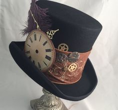 Steampunk Accessories, Steampunk Clothing, Steampunk Fashion, Steampunk Outfits, Victorian Fashion, Mad Hatter Costumes, Mad Hatter Hats, Mad Hatters, Steampunk Top Hat