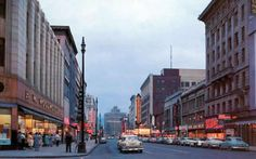Here on the left is Woolworths. Most likely picture taken in the 50's. Directly across the street was Witherills.  B