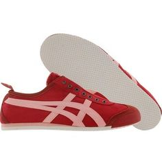Asics Onitsuka Tiger Womens Mexico 66 Slip On (red pink) Shoes