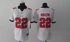 d9baeee01 Womens Nike NFL Tamp Bay Buccaneers  22 Doug Martin White Elite Jerseys