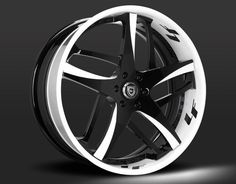 Custom - Black and White Finish Muscle Car Rims, Corsa Wind, Bmw Black, Bmw Accessories, Ktm, Vw Scirocco, White Rims, Aftermarket Wheels, Rims For Cars