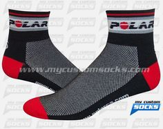 Socks designed by My Custom Socks for Polar Electro Canada in Quebec, Canada. Multisport socks made with Coolmax fabric. #Multisport  custom socks - free quote! ////// Calcetas diseñadas por My Customs Socks para Polar Electro Canada en Quebec, Canada. Calcetas para Multideporte hechas con tela Coolmax. #Multideporte calcetas personalizadas - cotización gratis! www.mycustomsocks.com