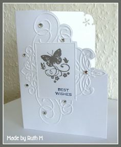 hand-cut corner along the embossing to create unique card!