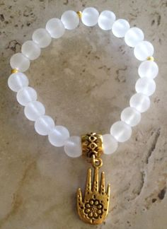 Transparent glass beaded bracelet made by patricia newlin from LC.Pandahall.com
