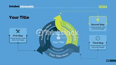 Vector Art : Three Arrows Diagram Slide Template