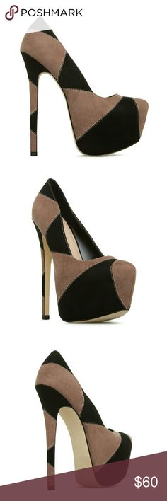 "Jonda Super High Heel Shoes /ON SALE TODAY ONLY Brand new, with box. Very nice shoes. Made of faux-suede,  color black-multi. Outside heel is 6.25"" Inside heel is 5"". If you love sexy shoes, this is a must*** Shoe Dazzle Shoes Heels"