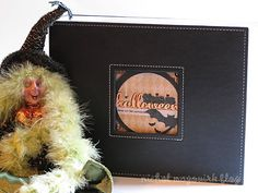 Love this idea for a halloween scrapbook