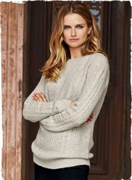 Our luxurious take on a fisherman sweater without the bulk. Frothy and lightweight in woolen-spun baby alpaca, it's knit in a mix of textural cables and lattice stitching with a crewneck, drop shoulders and ribbed trim.