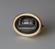 Intaglio. Ship Italy, 2nd-1st century BC