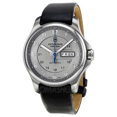 Victorinox Officer's Day Date Automatic Grey Dial Mens Watch 241547.2
