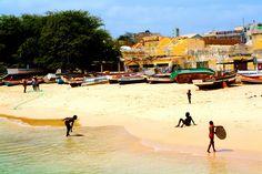 Cape Verdean boys waveboarding, Sal Rei