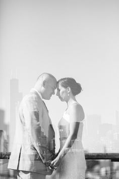 Double exposure beautifulness - love the skyline reflection