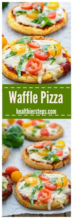These delicious kid-friendly Waffle Pizzas are so easy to prepare, all you need is waffles, pizza sauce, vegan cheese and your favorite toppings!