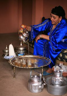 Tea Ceremony, Berber village, Morocco.