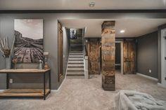 Rustic basement ideas basement rustic with reclaimed barn wood media cabinets