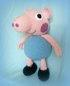 Häkeln Peppa Pig's Bruder George von Crochetland auf DaWanda.com