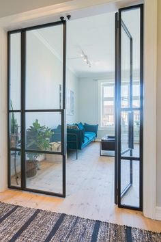 Jerndører med glass | Myhre Smie Room Divider, Decor, Furniture, Glass, Home, Home Decor, Room