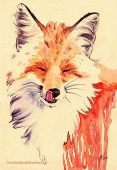 red fox art by ChristinaMandy on DeviantArt Fox Drawing, Painting & Drawing, Watercolor Animals, Watercolor Paintings, Animal Drawings, Art Drawings, Fuchs Illustration, Fox Tattoo Design, Fuchs Tattoo