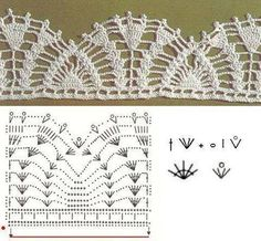 Luty Artes Crochet: Barrados com gráficos Mais