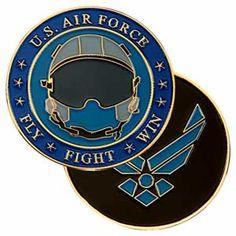 USAF Helmet Challenge Coin