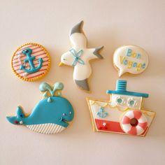 レッスンサンプル完成♪♪ 8月のレッスン詳細はブログをご覧下さい(^^) http://fiocco-cookies.blogspot.jp #icingcookie#sugarcookie #marine #アイシングクッキー #アイシングクッキー教室  #アイシングクッキーレッスン #マリンテイスト