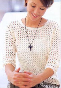 Белый ажурный пуловер крючком. Обсуждение на LiveInternet - Российский Сервис Онлайн-Дневников