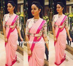 sanvi-srivstav-pink-saree-belted-blouse.jpg (852×768)