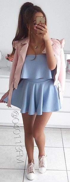 #winter #outfits  blue tube pleated mini dress Grey Fur Coat, Cozy Winter Outfits, Model Outfits, Summer Lookbook, Stylish Outfits, Nice Outfits, Hot Dress, Nice Dresses, Autumn Fashion