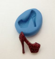High Heel Animal Print Shoe Silicone Mould - Sugarcraft, Cupcake Toppers, Fimo,