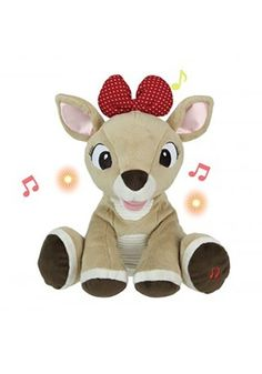 ea4ee9482b Clarice Rudolph the Red Nosed Reindeer Plush with Music and Lights