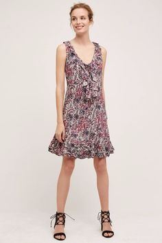 NWT ANTHROPOLOGIE WINDWARD RUFFLE LACE UP DRESS by MAEVE L #Maeve #Casual