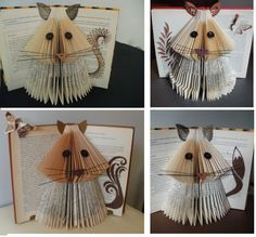 clara maffei: Book Sculpture -New tails experiment Old Book Crafts, Book Page Crafts, Book Page Art, Old Book Pages, Hobbies And Crafts, Arts And Crafts, Paper Art, Paper Crafts, Origami And Quilling