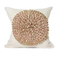 Daniel Stuart Studio - Gallery - Dahlia Pillow - Churchill Linen Dahlia col: Gold / Flax