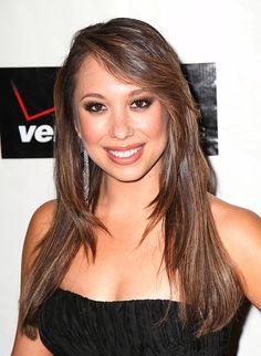 Cheryl Burkes gorgeous, brunette hairstyle