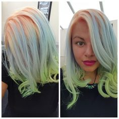 Pastel Hair, Crazy Color, Lime Twist, Bubblegum, Bad Apple hair Birmingham