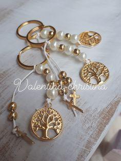 Christening Bracelets, Wedding Giveaways, Diy Keychain, Pearl Earrings, Drop Earrings, Lucky Charm, Wedding Favors, Dangles, Handmade Jewelry