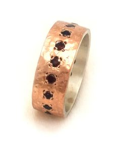 garnet ring semi wide rose gold garnet engagement ring by ilanamir