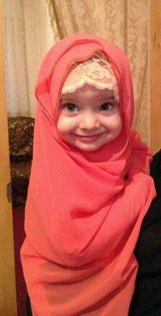 Cute baby in Hijab! MaSyaAllah! Islam is beautiful!